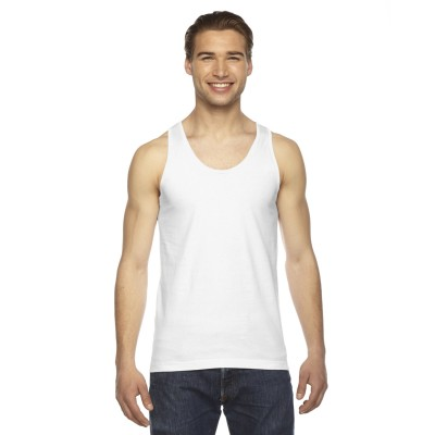 American Apparel Fine Jersey Tank - Sewn On Letters