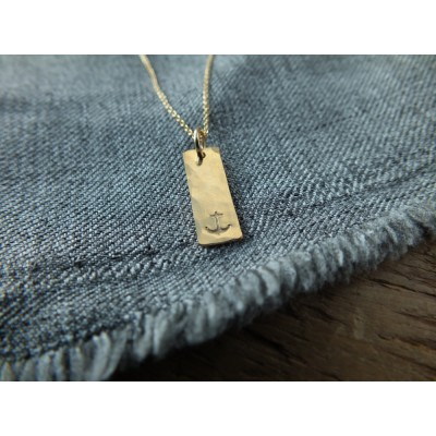 Anchor Tag Necklace