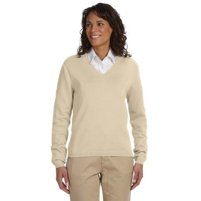 Devon & Jones Ladies' V-Neck Sweater - Crest