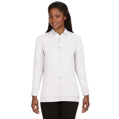 Devon & Jones Ladies' Ribbon Cardigan
