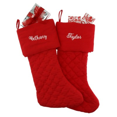 Embroidered Quitled Stocking