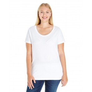 LAT Ladies' Curvy Premium Jersey T-shirt - Sewn On Letters