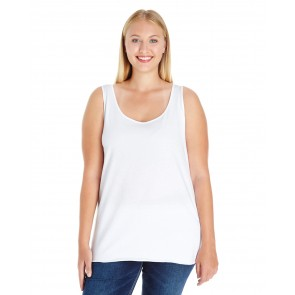 LAT Ladies' Curvy Premium Jersey Tank - Sewn On Letters