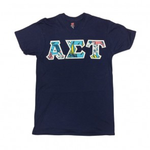 Hanes Nano V-Neck T-Shirt - Sewn On Letters