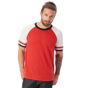 Alternative Men's Slapshot Vintage Jersey T-shirt - Crest