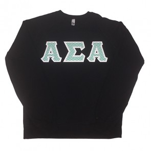 American Apparel Unisex California Fleece Raglan - Sewn on Letters