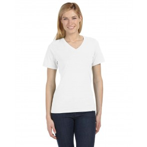 Bella + Canvas Ladies' Relaxed Jersey Short-Sleeve V-Neck T-Shirt - Sewn On Letters