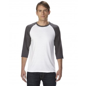 Anvil Triblend 3/4-Sleeve Raglan T-Shirt - Crest