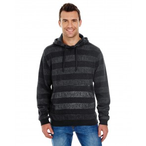 Burnside Men's Printed Stripe Marl Pullover - Sewn On Letters