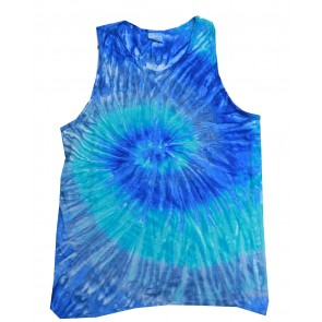 Tie Dye Tank Top - Sewn On Letters - Symbol