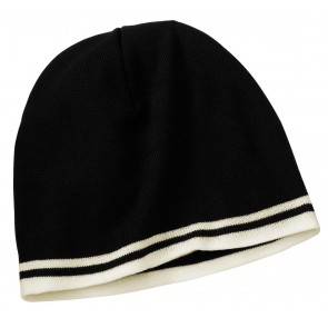 Port & Company Knit Skull Cap with Stripes - Crest