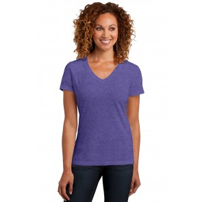 District Ladies' Perfect Blend V-Neck Tee - Sewn On Letters