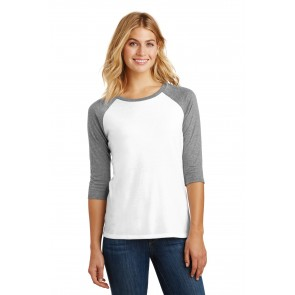 District Ladies' Perfect Tri 3/4-Sleeve Raglan - Sewn On Letters