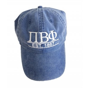 Adams Cap With Custom Greek Letters And Year Established