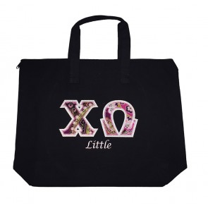 Sorority Tote With Custom Little Embroidery