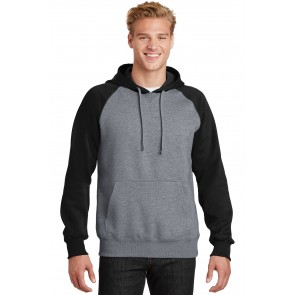 Sport-tek Raglan Colorblock Pullover Hooded Sweatshirt - Custom Pockets