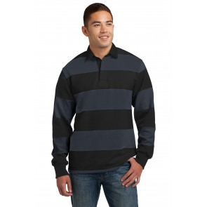 Sport-tek Classic Long Sleeve Rugby Polo - Sewn On Letters