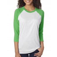 Next Level Unisex Triblend 3/4-sleeve Raglan - Crest
