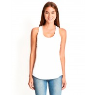 Next Level Ladies' Gathered Racerback Tank - Crest