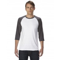 Anvil Triblend 3/4-Sleeve Raglan T-Shirt - Custom Pockets