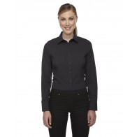 North End Ladies' Melange Long Sleeve Button Shirt - Monograms