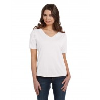 Bella + Canvas Ladies' Slouchy V-Neck T-Shirt - Monograms