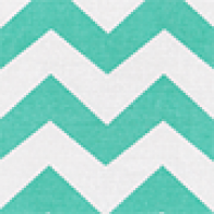Chevron Heather Mint