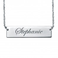 Cursive Bar Necklace