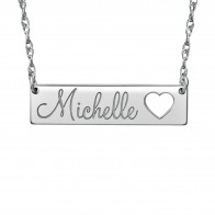 Cutout Heart Name Necklace