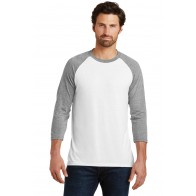 District Mens Perfect Tri 3/4-Sleeve Raglan - Custom Pockets