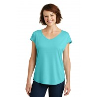 District Made Ladies Drapey Cross-back Tee - Monograms