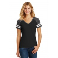 District Ladies' Game V-Neck Tee - Crest
