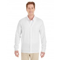 Harriton Men's Pilbloc V-neck Button Cardigan Sweater - Symbol