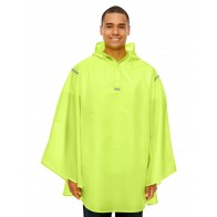 Team 365 Adult Stadium Packable Poncho - Sewn On Letters